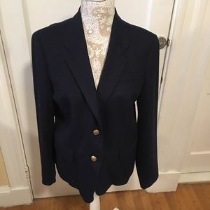 JCrew navy blazer with gold buttons